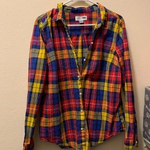 Old Navy Plaid Classic Button-Up Shirt